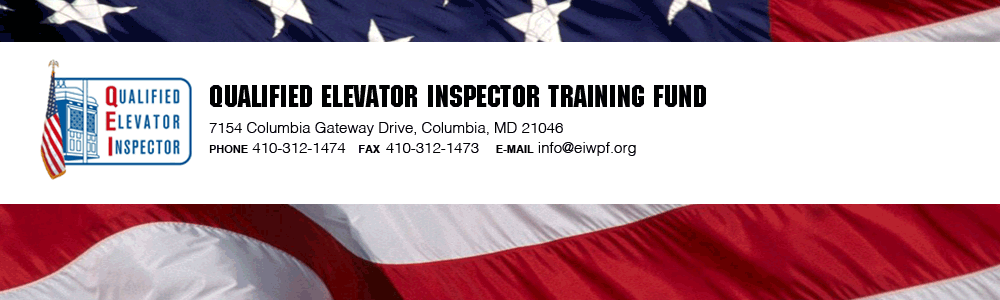 Qualified Elevator Inspector Training Fund logo and banner