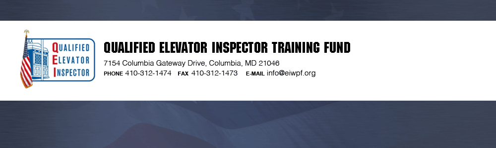 QEITF Qualified Elevator Inspectors Training Fund